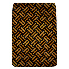 Woven2 Black Marble & Yellow Grunge (r) Flap Covers (l)  by trendistuff