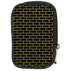 Brick1 Black Marble & Yellow Leather (r) Compact Camera Cases by trendistuff