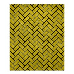 Brick2 Black Marble & Yellow Leather Shower Curtain 60  X 72  (medium)  by trendistuff