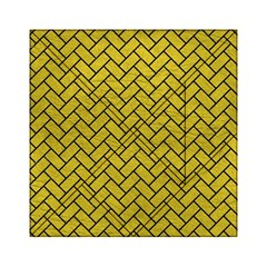 Brick2 Black Marble & Yellow Leather Acrylic Tangram Puzzle (6  X 6 ) by trendistuff