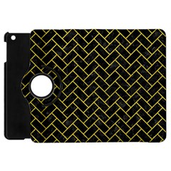 Brick2 Black Marble & Yellow Leather (r) Apple Ipad Mini Flip 360 Case