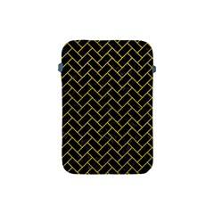 Brick2 Black Marble & Yellow Leather (r) Apple Ipad Mini Protective Soft Cases by trendistuff