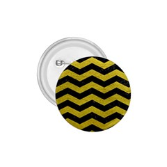 Chevron3 Black Marble & Yellow Leather 1 75  Buttons by trendistuff