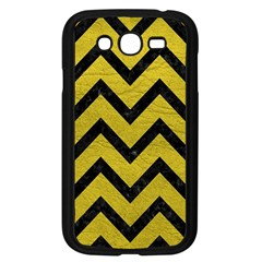 Chevron9 Black Marble & Yellow Leather Samsung Galaxy Grand Duos I9082 Case (black) by trendistuff
