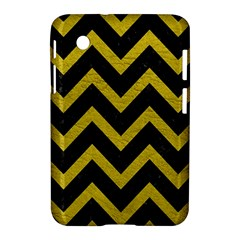Chevron9 Black Marble & Yellow Leather (r) Samsung Galaxy Tab 2 (7 ) P3100 Hardshell Case