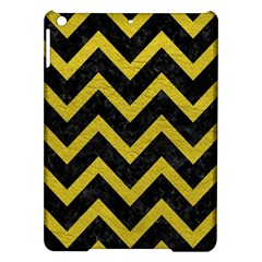 Chevron9 Black Marble & Yellow Leather (r) Ipad Air Hardshell Cases by trendistuff