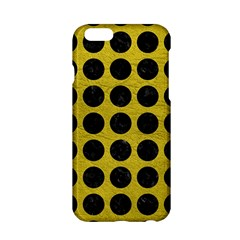 Circles1 Black Marble & Yellow Leather Apple Iphone 6/6s Hardshell Case by trendistuff