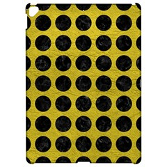 Circles1 Black Marble & Yellow Leather Apple Ipad Pro 12 9   Hardshell Case by trendistuff