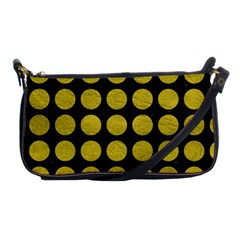 Circles1 Black Marble & Yellow Leather (r) Shoulder Clutch Bags by trendistuff