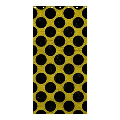 Circles2 Black Marble & Yellow Leather Shower Curtain 36  X 72  (stall)  by trendistuff
