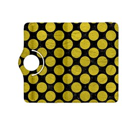 Circles2 Black Marble & Yellow Leather (r) Kindle Fire Hdx 8 9  Flip 360 Case by trendistuff