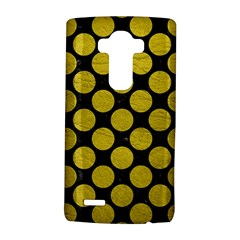 Circles2 Black Marble & Yellow Leather (r) Lg G4 Hardshell Case by trendistuff