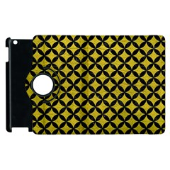 Circles3 Black Marble & Yellow Leather Apple Ipad 3/4 Flip 360 Case by trendistuff