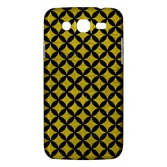 Circles3 Black Marble & Yellow Leather Samsung Galaxy Mega 5 8 I9152 Hardshell Case  by trendistuff