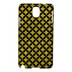 Circles3 Black Marble & Yellow Leather Samsung Galaxy Note 3 N9005 Hardshell Case
