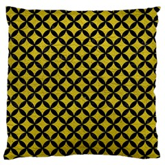 Circles3 Black Marble & Yellow Leather Standard Flano Cushion Case (one Side) by trendistuff