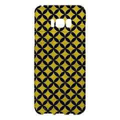 Circles3 Black Marble & Yellow Leather Samsung Galaxy S8 Plus Hardshell Case