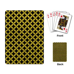 Circles3 Black Marble & Yellow Leather (r) Playing Card by trendistuff