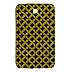 Circles3 Black Marble & Yellow Leather (r) Samsung Galaxy Tab 3 (7 ) P3200 Hardshell Case