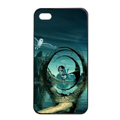 Cute Fairy Dancing On The Moon Apple Iphone 4/4s Seamless Case (black) by FantasyWorld7