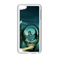 Cute Fairy Dancing On The Moon Apple Ipod Touch 5 Case (white) by FantasyWorld7