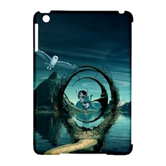 Cute Fairy Dancing On The Moon Apple Ipad Mini Hardshell Case (compatible With Smart Cover) by FantasyWorld7