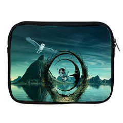 Cute Fairy Dancing On The Moon Apple Ipad 2/3/4 Zipper Cases by FantasyWorld7