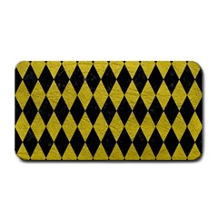 Diamond1 Black Marble & Yellow Leather Medium Bar Mats by trendistuff