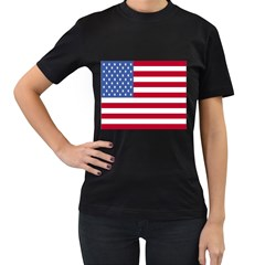 UnitedStates Women s Black T-Shirt by nazimsiteler