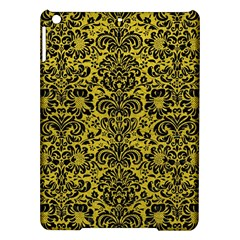 Damask2 Black Marble & Yellow Leather Ipad Air Hardshell Cases