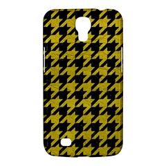 Houndstooth1 Black Marble & Yellow Leather Samsung Galaxy Mega 6 3  I9200 Hardshell Case