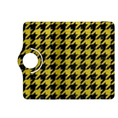 Houndstooth1 Black Marble & Yellow Leather Kindle Fire Hdx 8 9  Flip 360 Case by trendistuff