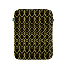 Hexagon1 Black Marble & Yellow Leather (r) Apple Ipad 2/3/4 Protective Soft Cases by trendistuff