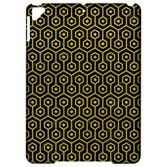 Hexagon1 Black Marble & Yellow Leather (r) Apple Ipad Pro 9 7   Hardshell Case by trendistuff