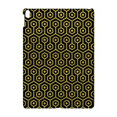 Hexagon1 Black Marble & Yellow Leather (r) Apple Ipad Pro 10 5   Hardshell Case by trendistuff