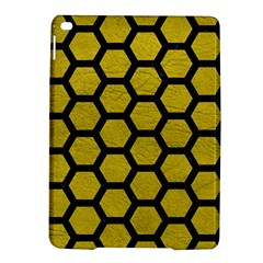 Hexagon2 Black Marble & Yellow Leather Ipad Air 2 Hardshell Cases by trendistuff