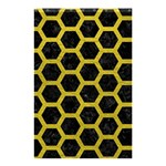 HEXAGON2 BLACK MARBLE & YELLOW LEATHER (R) Shower Curtain 48  x 72  (Small)