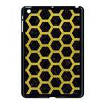 HEXAGON2 BLACK MARBLE & YELLOW LEATHER (R) Apple iPad Mini Case (Black)