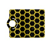 HEXAGON2 BLACK MARBLE & YELLOW LEATHER (R) Kindle Fire HD (2013) Flip 360 Case