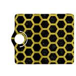 HEXAGON2 BLACK MARBLE & YELLOW LEATHER (R) Kindle Fire HDX 8.9  Flip 360 Case