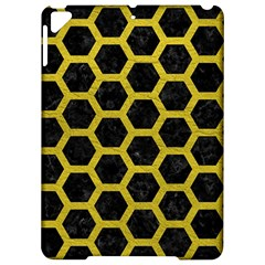 Hexagon2 Black Marble & Yellow Leather (r) Apple Ipad Pro 9 7   Hardshell Case by trendistuff