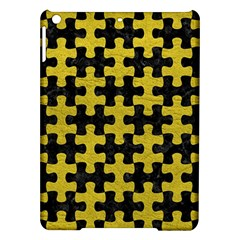 Puzzle1 Black Marble & Yellow Leather Ipad Air Hardshell Cases by trendistuff