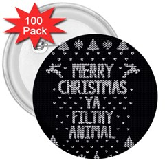 Ugly Christmas Sweater 3  Buttons (100 Pack)  by Valentinaart