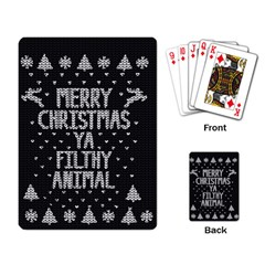 Ugly Christmas Sweater Playing Card by Valentinaart