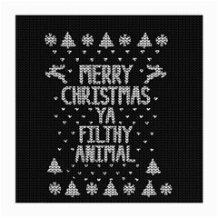 Ugly Christmas Sweater Medium Glasses Cloth (2 Side) by Valentinaart