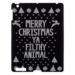 Ugly Christmas Sweater Apple Ipad 3/4 Hardshell Case by Valentinaart
