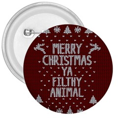 Ugly Christmas Sweater 3  Buttons by Valentinaart