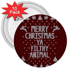 Ugly Christmas Sweater 3  Buttons (10 Pack)  by Valentinaart