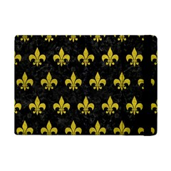 Royal1 Black Marble & Yellow Leather Ipad Mini 2 Flip Cases by trendistuff