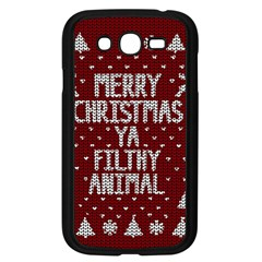 Ugly Christmas Sweater Samsung Galaxy Grand Duos I9082 Case (black) by Valentinaart